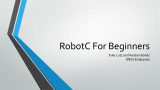 RobotC For Beginners