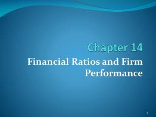 Financial Ratios and Firm Performance