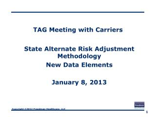 TAG Meeting with Carriers