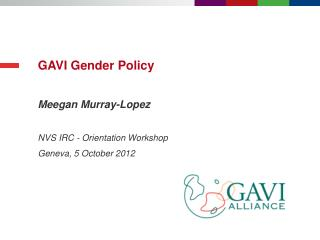 GAVI Gender Policy