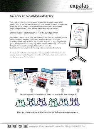 Bausteine Social Media Marketing