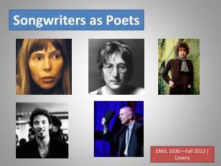 Songwriters as Poets