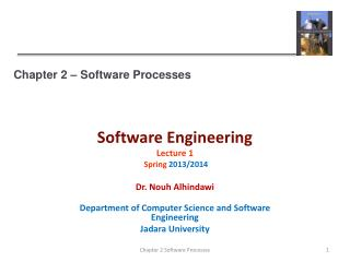 Chapter 2 � Software Processes