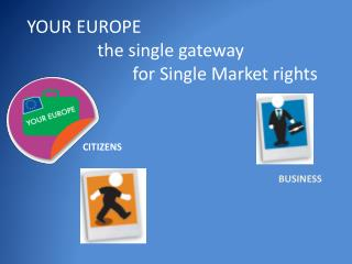 YOUR EUROPE 		the single gateway  			for Single Market rights