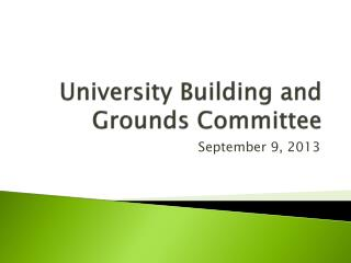University Building and Grounds Committee