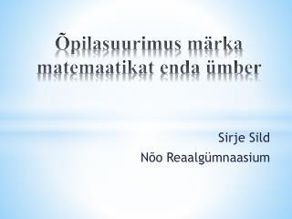 Õpilasuurimus märka matemaatikat enda ümber