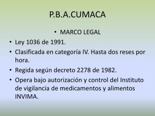 P.B.A.CUMACA