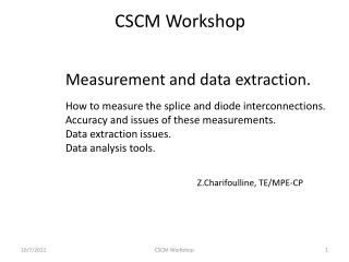 Measurement and data extraction.