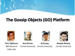 The  Gossip Objects  (GO)  Platform