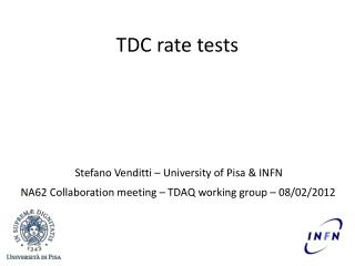 TDC rate  tests