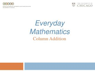 Everyday Mathematics Column Addition