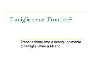 Famiglie senza Frontiere