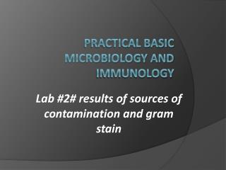 Practical Basic Microbiology and Immunology