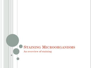 Staining Microorganisms