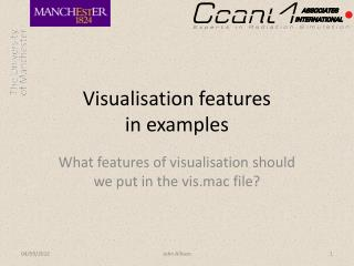 Visualisation features in examples