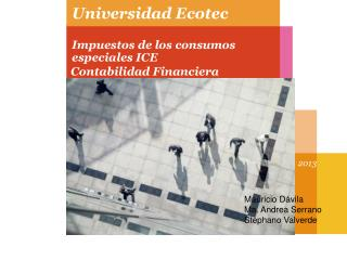 Universidad  Ecotec Impuestos de los consumos especiales ICE