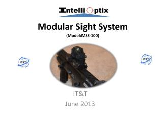 Modular Sight System  ( Model:MSS-100 )
