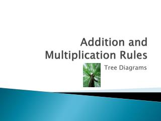 Addition and Multiplication Rules