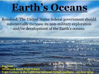 Earth�s Oceans