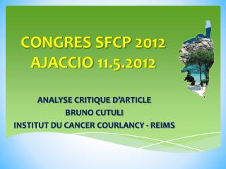 CONGRES SFCP 2012 AJACCIO 11.5.2012