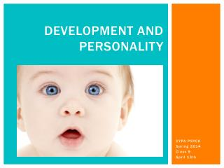 Development and Personality
