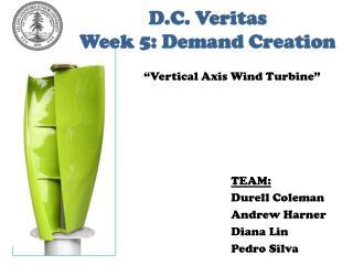 D.C.  Veritas Week 5: Demand Creation