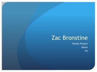Zac Bronstine