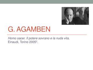 G. Agamben