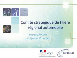 Comité stratégique de filière régional automobile
