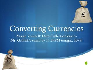 Converting Currencies