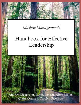 Maslow Management's  Handbook for Effective Leadership