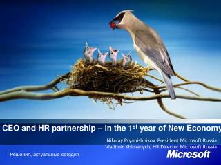 CEO and HR partnership – in the 1 st  year of New Economy