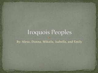 Iroquois Peoples