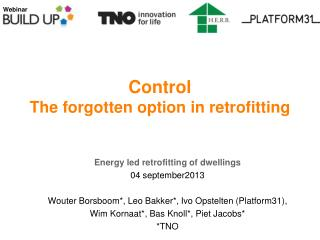 Control The forgotten option in retrofitting