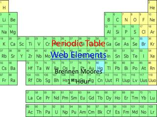 Periodic Table Web Elements
