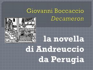 Giovanni Boccaccio Decameron