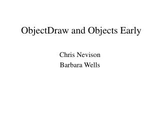 ObjectDraw and Objects Early