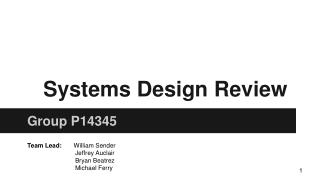 Systems Design Review