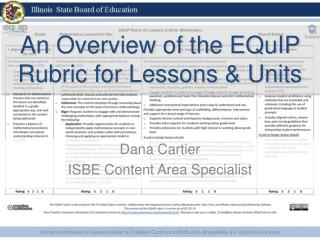 An Overview of the  EQuIP  Rubric for Lessons & Units