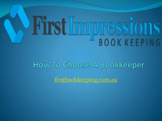 How To Choose A Bookkeeper
