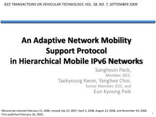An Adaptive Network Mobility Support Protocol  in Hierarchical Mobile IPv6 Networks