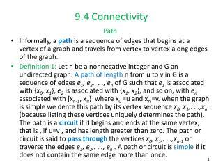 9.4 Connectivity