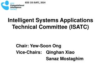 Intelligent Systems Applications Technical Committee  (ISATC)