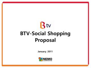 BTV-Social Shopping  Proposal