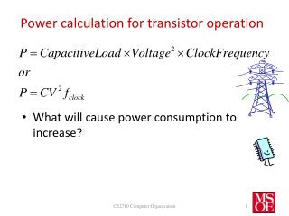 Power  calculation  for  transistor operation