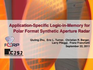 Application-Specific Logic-in-Memory for Polar Format Synthetic Aperture Radar