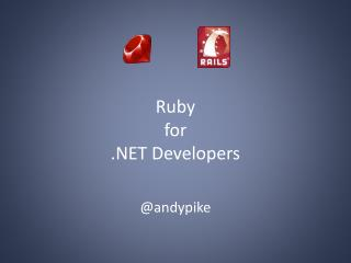 Ruby for  .NET Developers