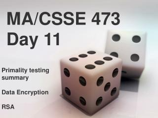 MA/CSSE 473 Day 11
