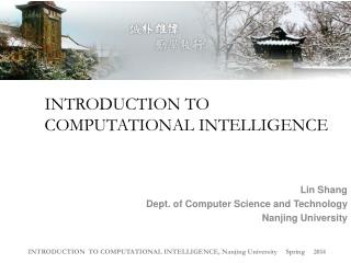 INTRODUCTION TO COMPUTATIONAL INTELLIGENCE