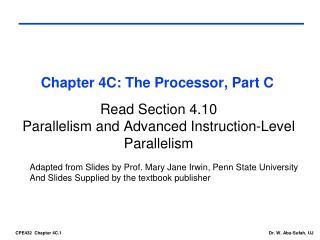Chapter 4C: The Processor, Part C
